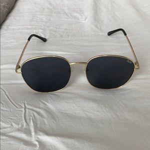 Quay Sunglasses with Gold Frames